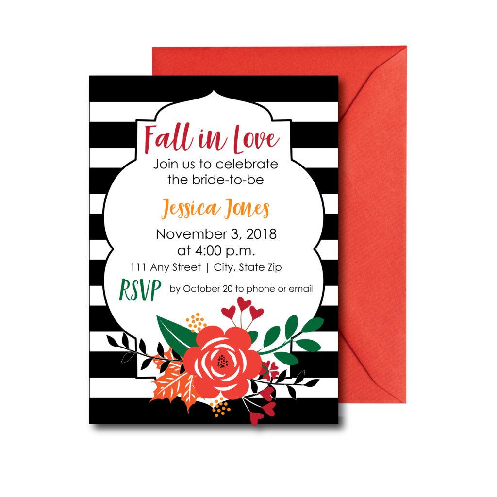 Classic Fall Bridal Shower Invite