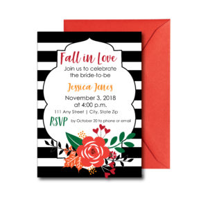 Classic Fall Bridal Shower Invite