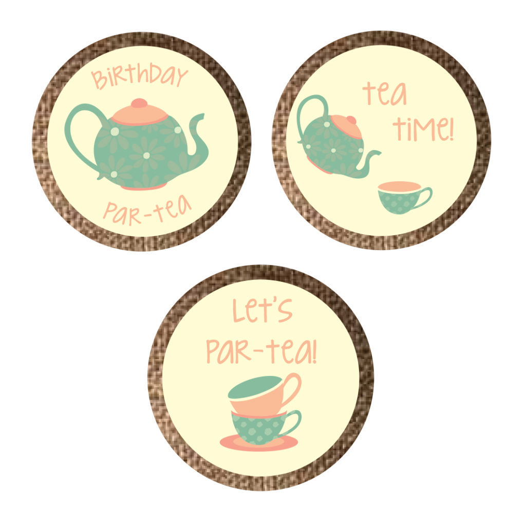 Tea Party Themed Stickers