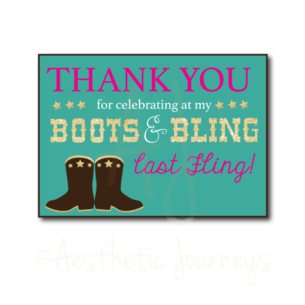 Country Themed Thank You Card
