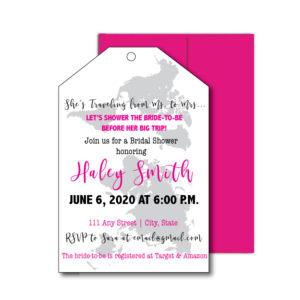 Travel Themed Bridal Shower Invite