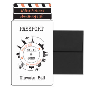 Airline Ticket Wedding Invite