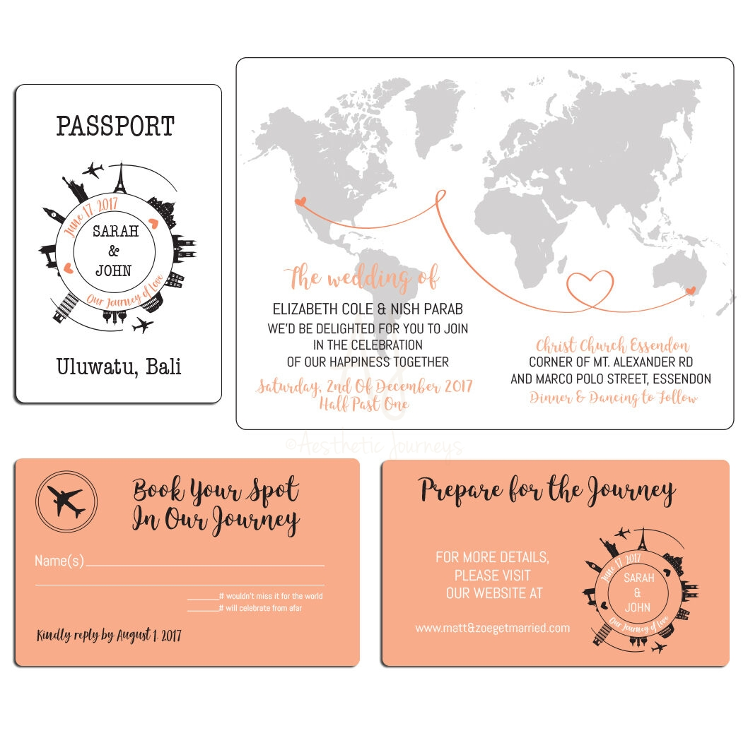 travel themed wedding invite