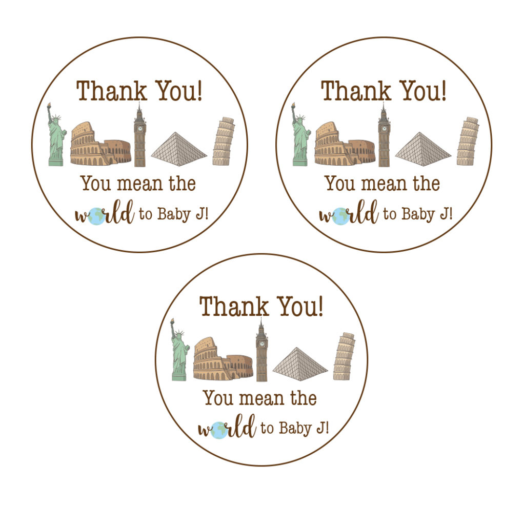 travel themed stickers