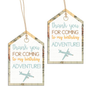 Travel Themed Thank You Tags