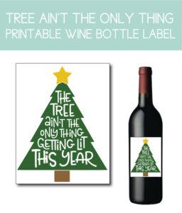 Getting Lit Wine Bottle Label