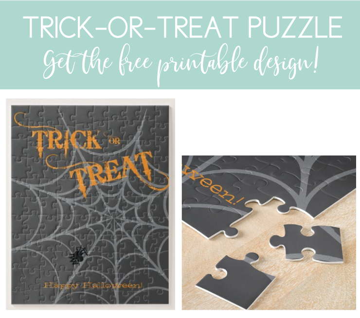 trick-or-treat puzzle for halloween