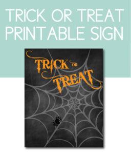 Trick or Treat Chalkboard Sign