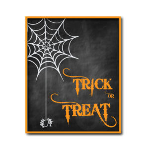 Chalkboard Trick or Treat Sign