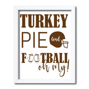 Thanksgiving Football Sign
