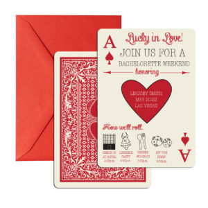 Casino Bridal Shower Invite