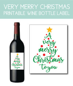 Very Merry Christmas to You Bottle Label