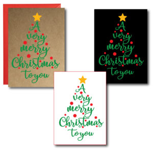 Printed Very Merry Christmas Cards
