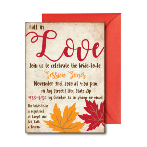 Vintage Fall Bridal Shower Invite