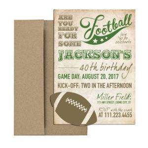 Vintage Football invitation
