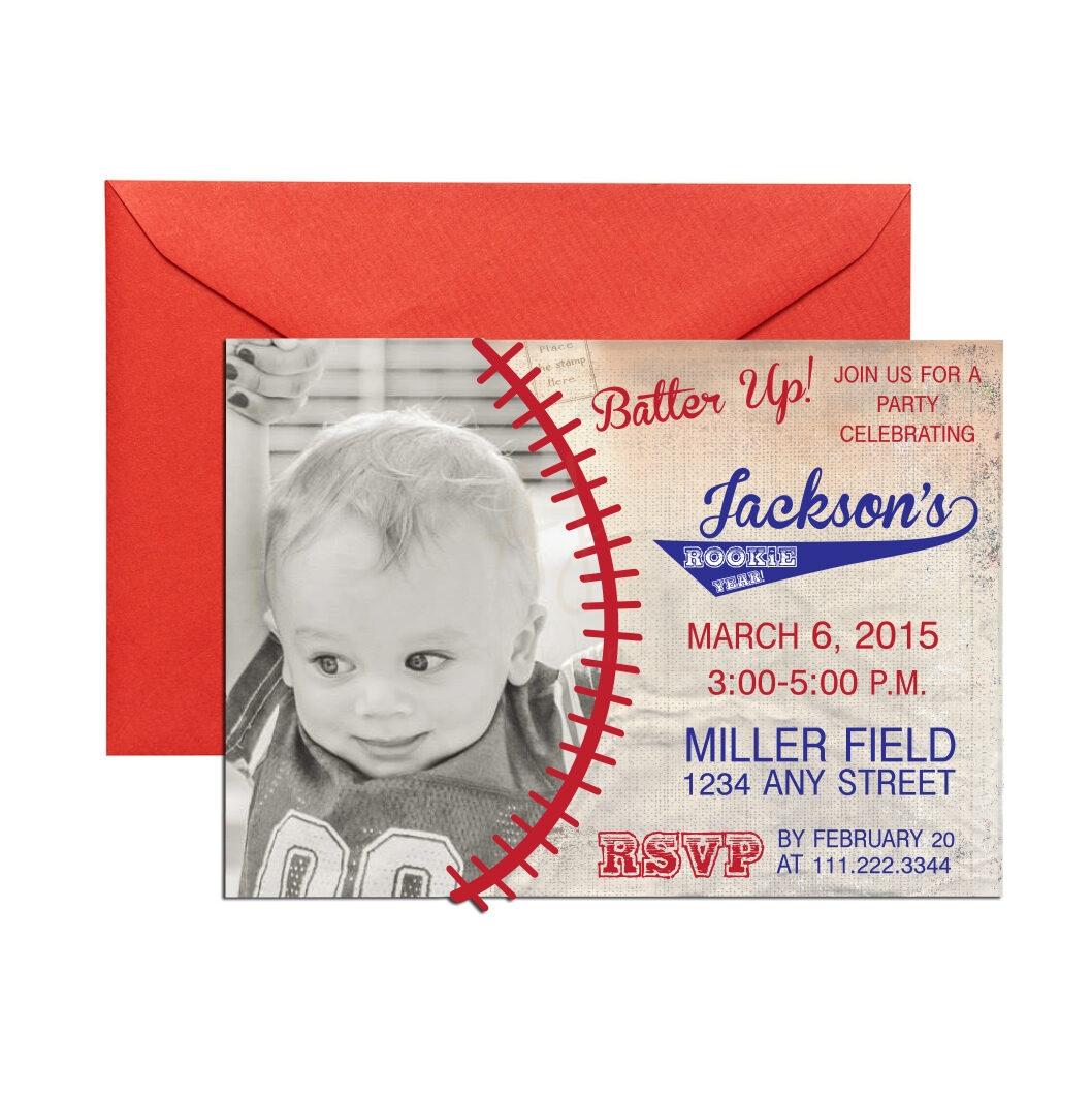 Vintage Baseball Invite