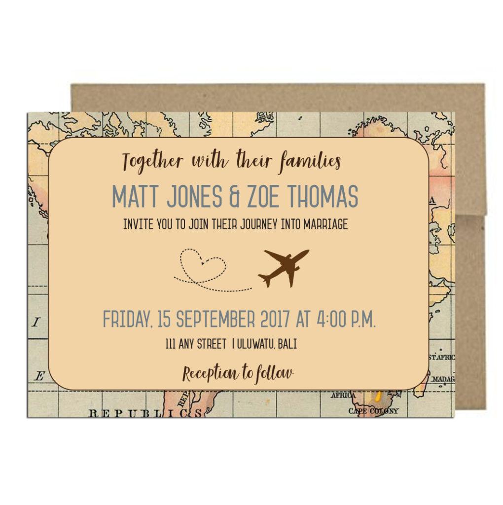 Vintage Travel Invite