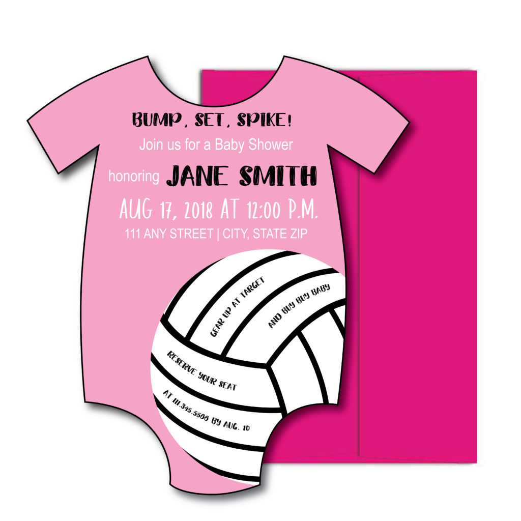 Volleyball Baby Shower Invite