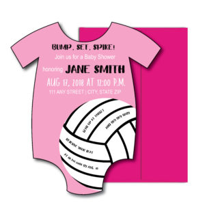 Volleyball Baby Shower Invite