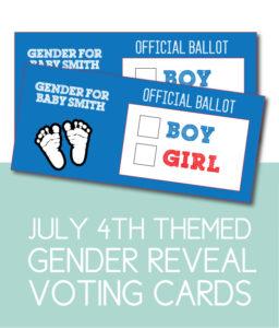 Official Ballot Cards for Gender Reveal