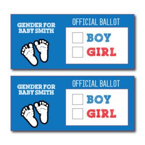 Gender Reveal Voting Cards