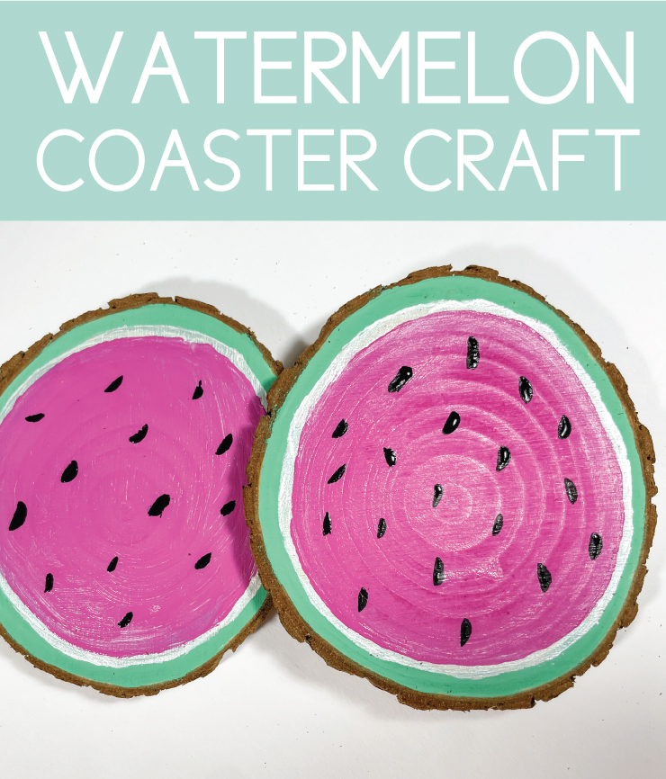 watermelon coaster craft