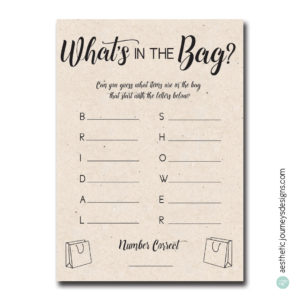 What's in the Bag?