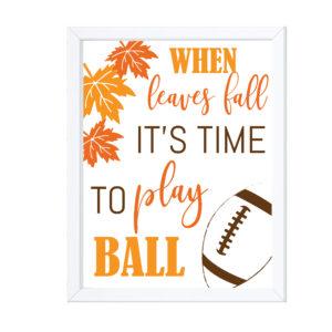 Fall Themed Football Sign