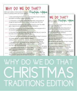 Why Do We Do That Christmas Game
