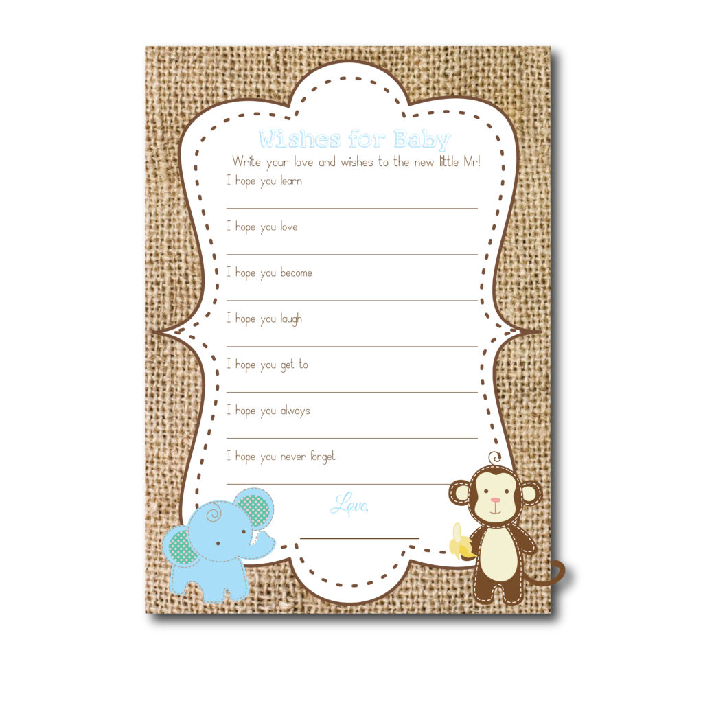 Wishes for Baby Shower Game
