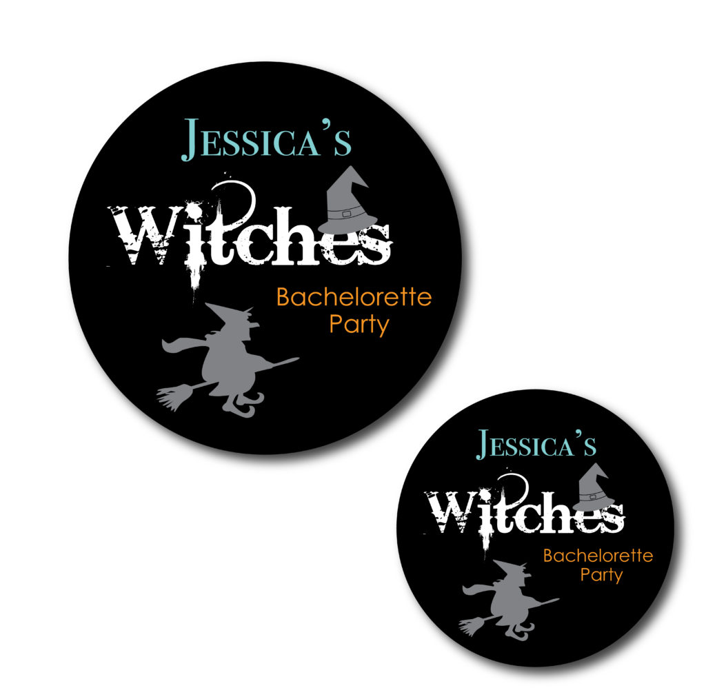 Witch Themed Bachelorette Stickers