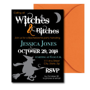 Witch Themed Bachelorette Invite