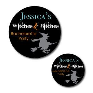 Funny Halloween Bachelorette Stickers