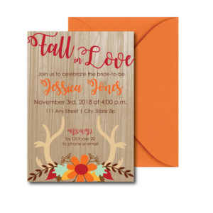 Wooden Fall Bridal Shower Invite