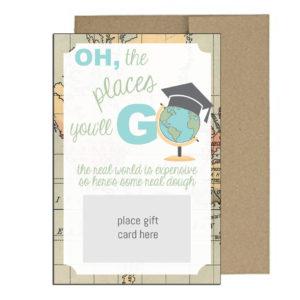 Travel Themed Graduation Gift Card Holder