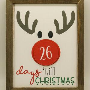 Reindeer Christmas Countdown