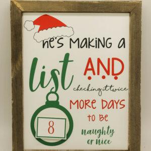 Santa Themed Christmas Countdown