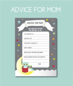 Storybook themed advice cards for the mom-to-be