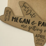 Airplane Shaped Magnet Save the Date | Rustic, Travel themed Save the Date with Envelopes Included | Set of 5 Save the Dates