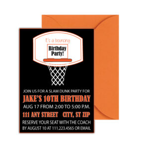 Basketball Party Invite