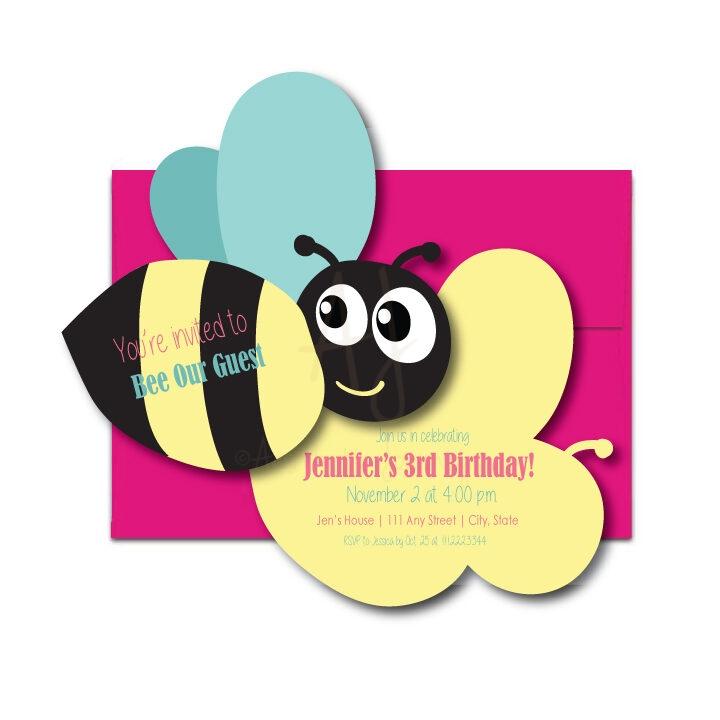 Bee party invite