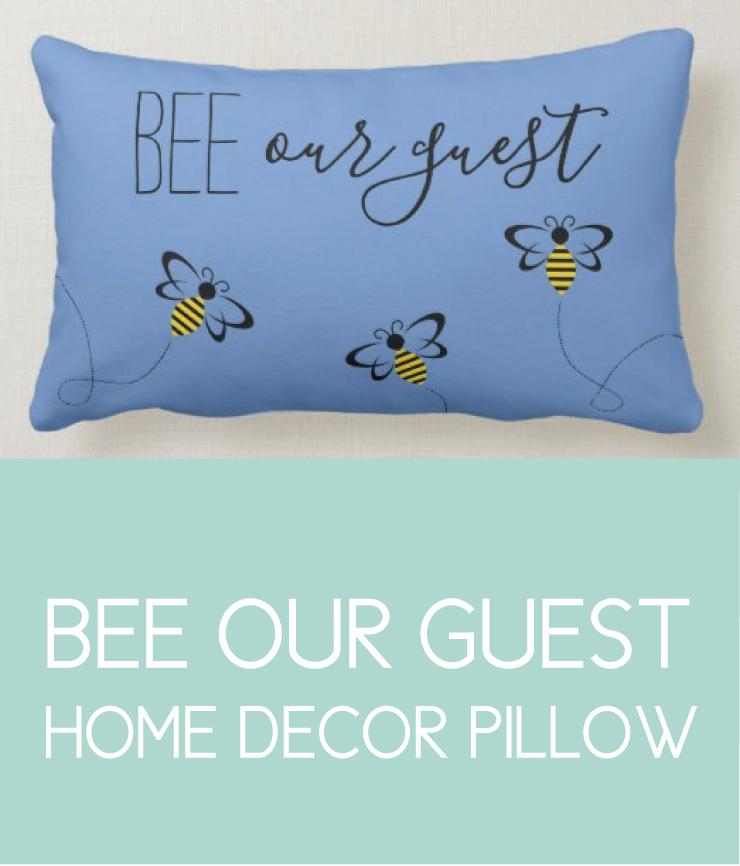 Bee Our Guest Throw Pillow