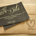 Black and Gold Magnet or Card Save the Date | Save the Date Printed | Envelopes Included | Set of 5 Save the Date Magnets or Printed Cards
