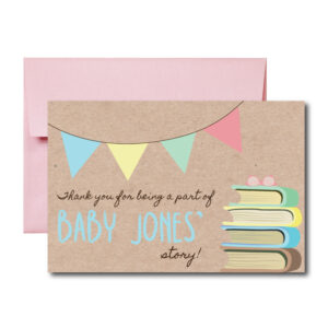 Book Thank You Card for Baby Shower