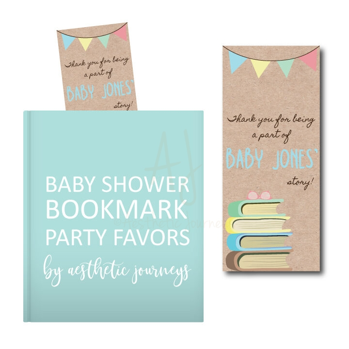Bookmark Baby Shower Party Favor Tags