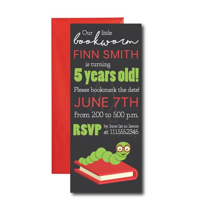 Bookworm Party Invite