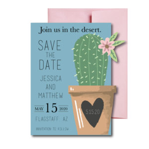 Desert Themed Save the Date