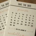 Calendar Magnet Save the Date, Blush Pink Style   Calendar Save the Date Magnet or Card with Envelopes Included   Set of 5 Save the Dates