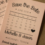 Calendar Magnet Save the Date, Blush Pink Style | Calendar Save the Date Magnet or Card with Envelopes Included | Set of 5 Save the Dates