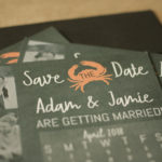 Calendar Magnet Save the Date, Chalkboard, Beach Themed | Calendar Save the Date Magnet or Card with Envelopes | Set of 5 Save the Dates